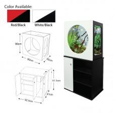 AQUADECO Red/Black (280L) 90cmlx55cmwx90cmH, 4X28W T5 Lamp 1set/outer