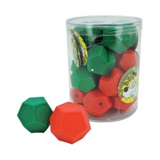 12 SIDE DICE FOR CAT - GREEN, RED 18pcs/canister