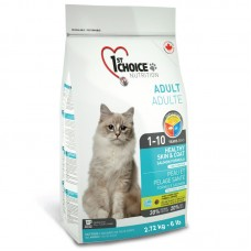1ST CHOICE CAT ADULT HEALTHY SKIN & COAT SALMON 2.72kg 4bags/outer