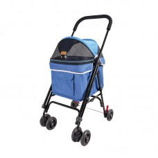 IBIYAYA ASTRO GO LITE PET STROLLER-GRUNGY BLUE Cabin:38cmLx31cmWx43cmH Stroller:57cmLx44cmWx94cmH