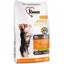 1ST CHOICE ADULT MAINTENANCE TOY & SMALL BREEDS 2.72kg 4bags/outer