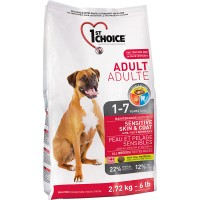 1ST CHOICE ADULT MAINTENANCE SENSITIVE SKIN & COAT 2.72kg 4bags/outer