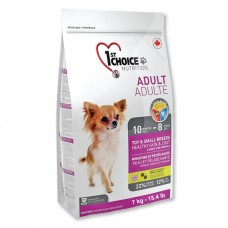 1ST CHOICE ADULT TOY & SMALL BREEDS HEALTHY SKIN & COAT 7kg 1bag/outer